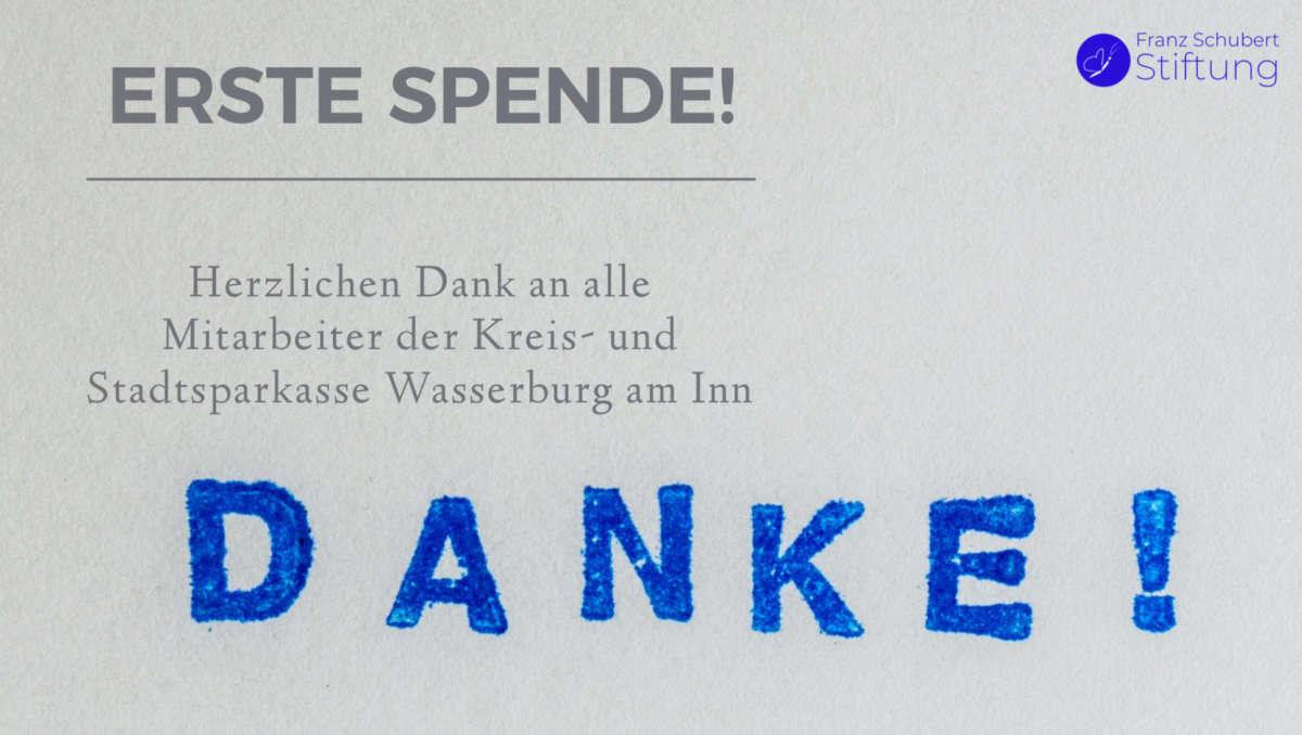 Spende Sparkasse Wasserburg