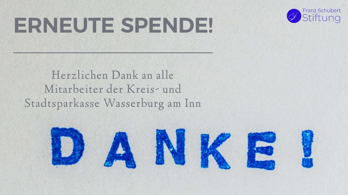 Spende Mitarbeiter Sparkasse Wasserburg