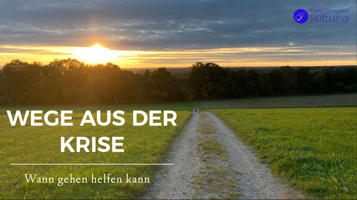 Wege aus der Krise Martin Walser – Dem Gehenden schiebt sich der Weg unter die Füße