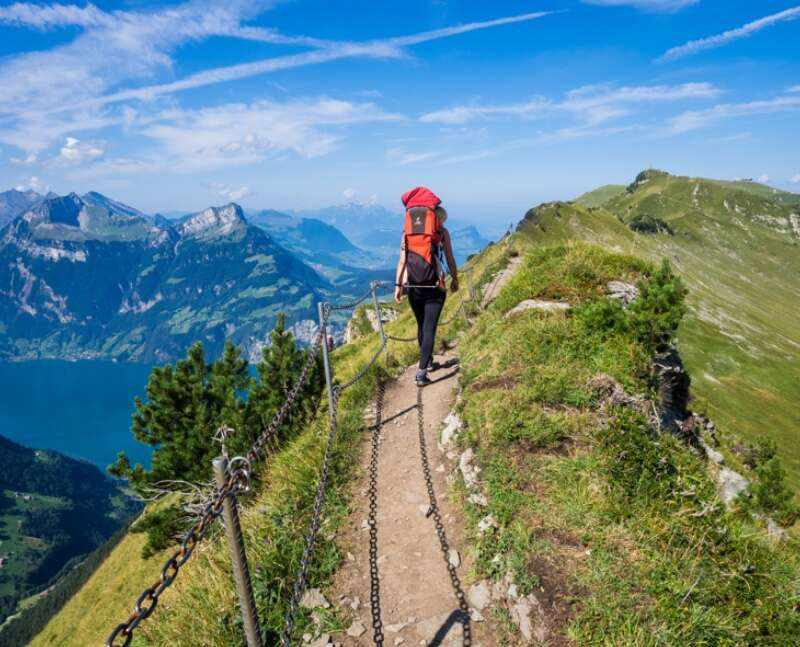 Leben gleicht einer Bergtour